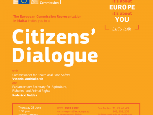 Citizens' Dialogue in Malta with Commissioner for Health & Food Safety, Vytenis Andriukaitis