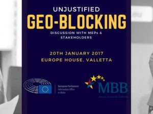 Unjustified Geo-Blocking Discussion with MEPs & Stakeholders: 20th January