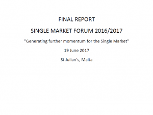 Final Report – Single Market Forum 2016/2017