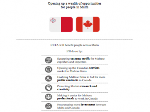 CETA – Opportunities for Maltese companies – Fact Sheet