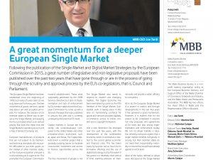 A great momentum for a deeper European Single Market
