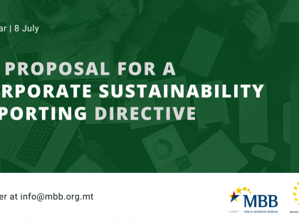 WEBINAR: EU Proposal for a Corporate Sustainability Reporting Directive